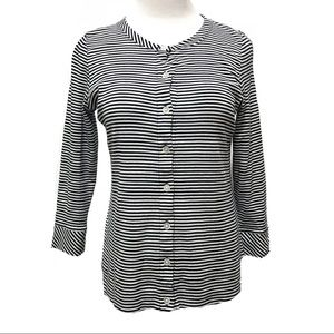 Talbots XS Top Button Long Sleeve Stretch Office
